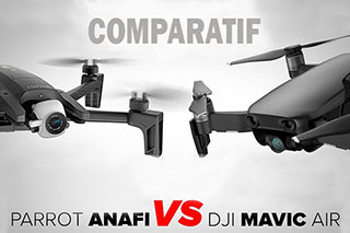 Comparatif Anafi vs Mavic Air