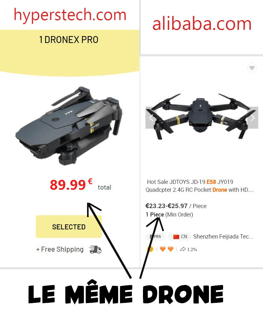 arnaque Drone X Pro