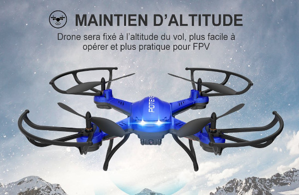 drone F181DH de face en vol